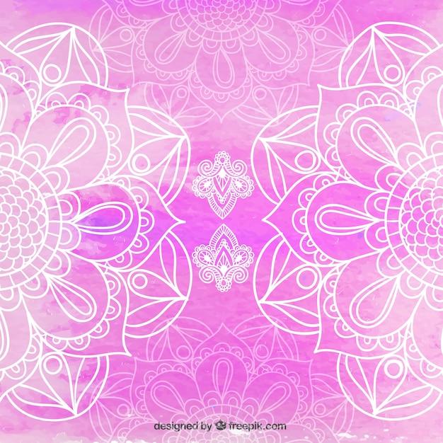 Fundo mandala de-rosa bonita Vetor grátis