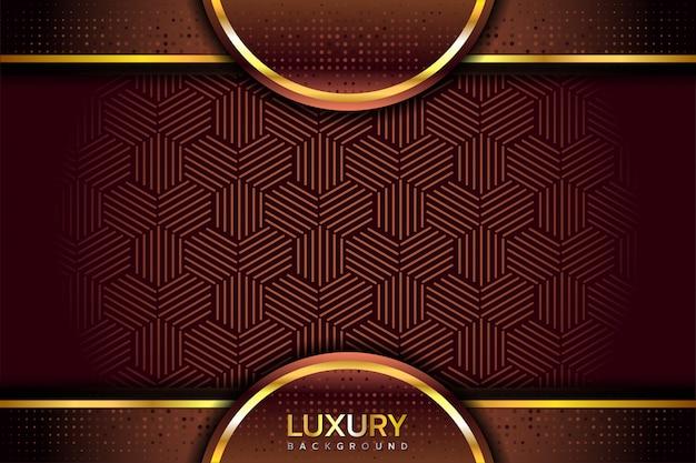Fundo marrom dourado elegante luxuoso Vetor Premium