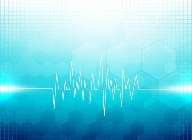Fundo médico azul moderno Vetor grátis