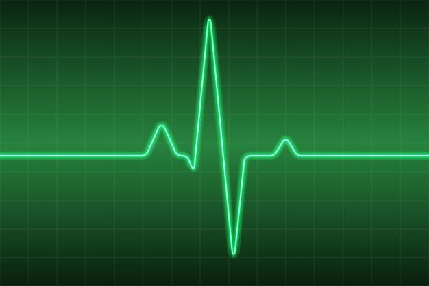 Fundo médico de saúde com pulso de coração ecg Vetor Premium