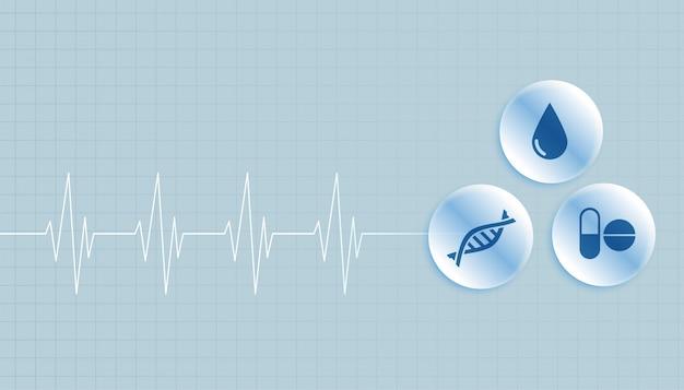 Fundo médico e de saúde com espaço de texto Vetor grátis