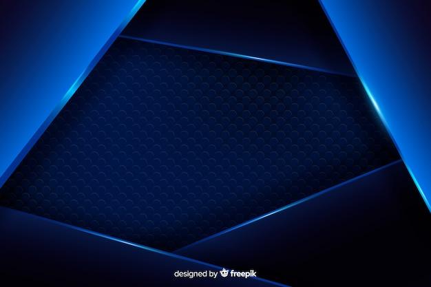 Fundo metálico azul abstrato com reflexão Vetor grátis