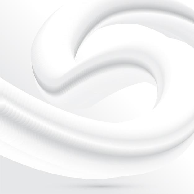 Fundo mínimo abstrato com design de mistura de fluido branco Vetor grátis
