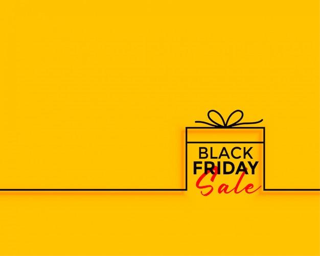 Fundo mínimo de venda de presente de sexta-feira negra Vetor grátis