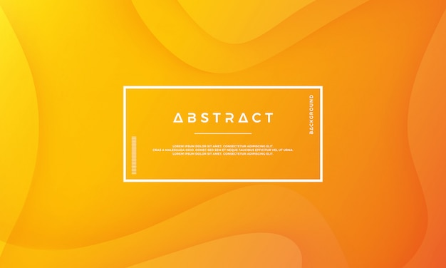Fundo moderno abstrato laranja vector. Vetor Premium