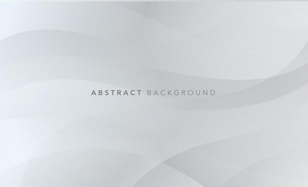 Fundo moderno cinza ondulado branco Vetor Premium