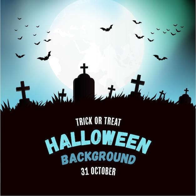Fundo moderno de halloween Vetor grátis