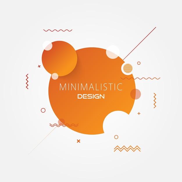 Fundo moderno do círculo mínimo abstrato. Vetor Premium