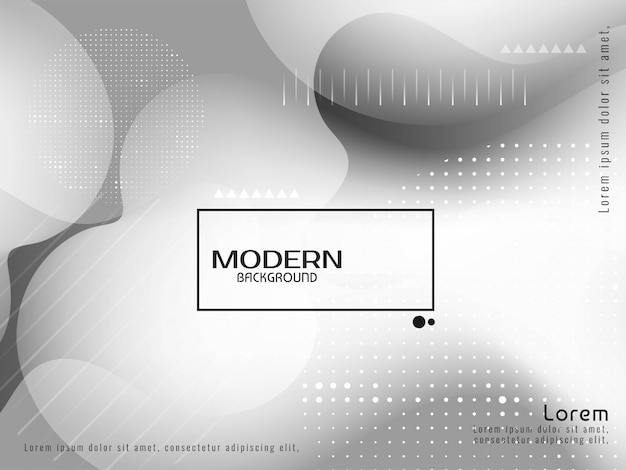 Fundo moderno elegante líquido cor cinza Vetor grátis