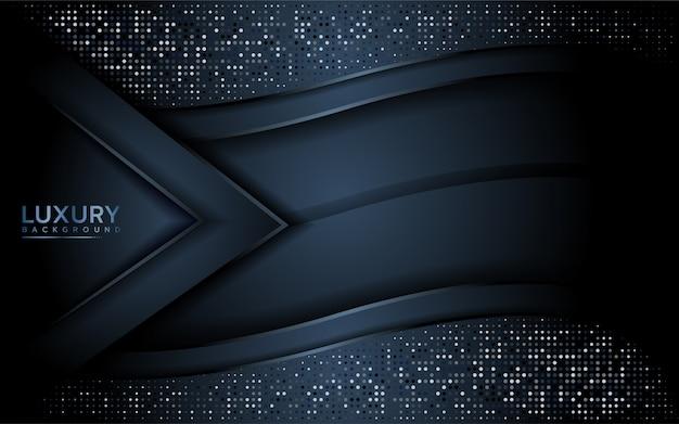 Fundo moderno escuro com camada de sobreposição Vetor Premium