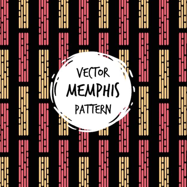 Fundo moderno padrão de memphis Vetor grátis