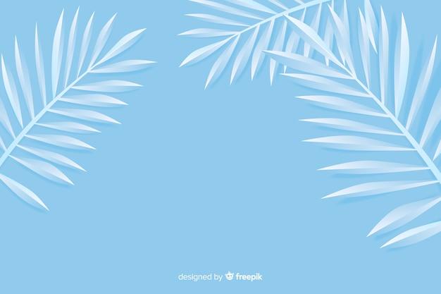 Fundo monocromático folhas azuis em estilo de jornal Vetor grátis