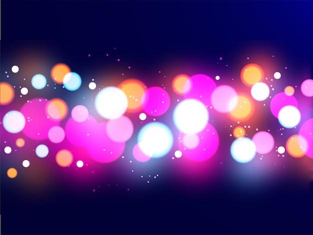 Fundo multicolorido brilhante do sumário do bokeh. Vetor Premium