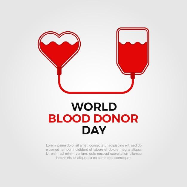 Fundo mundial do dador de sangue Vetor grátis