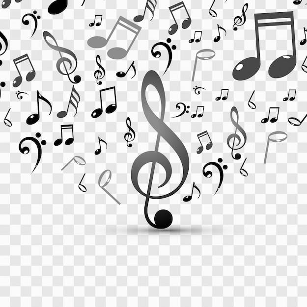 Fundo música moderna Vetor grátis