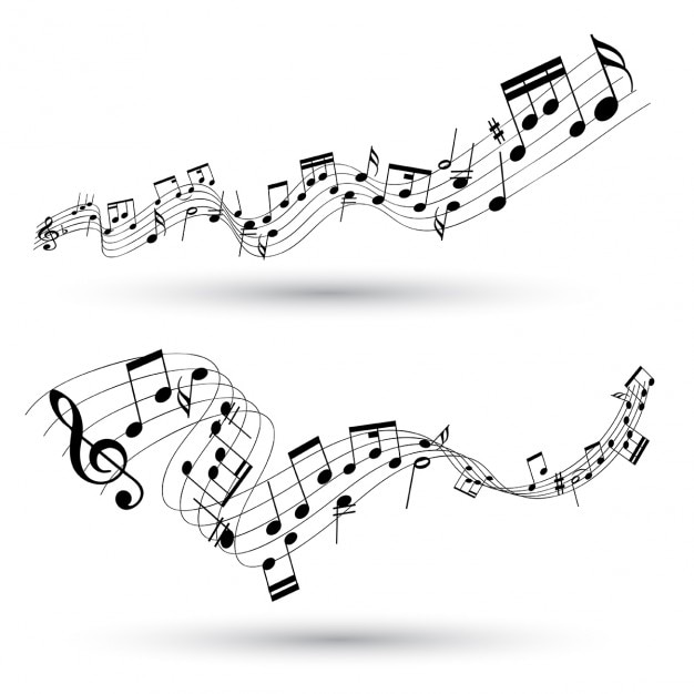 Fundo musical abstrato Vetor grátis