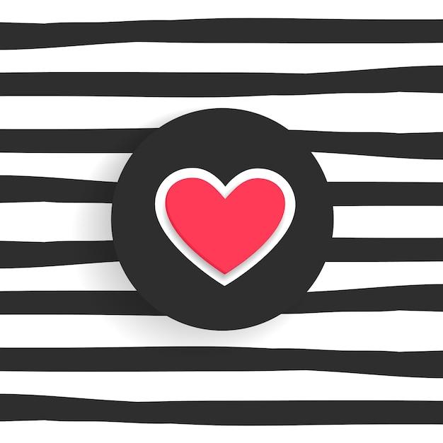 Fundo na moda com forma de coração Vetor grátis