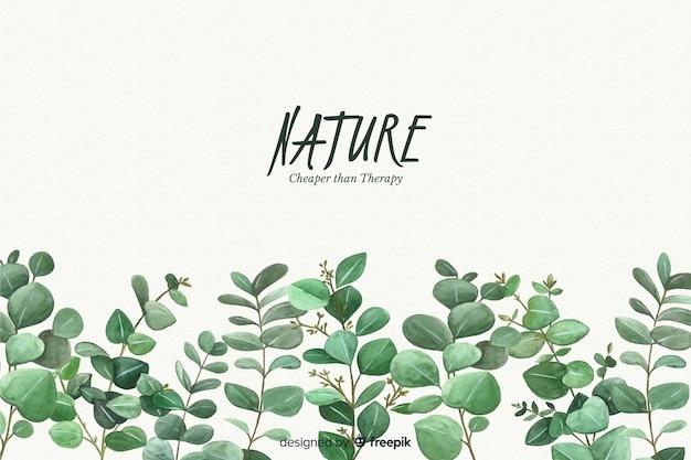 Fundo natural com citação Vetor Premium