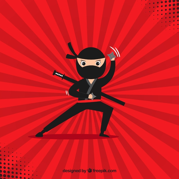 Fundo ninja Vetor grátis