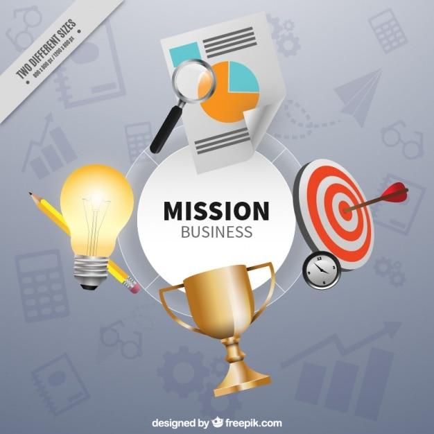 Fundo objetivo de negócio Vetor grátis