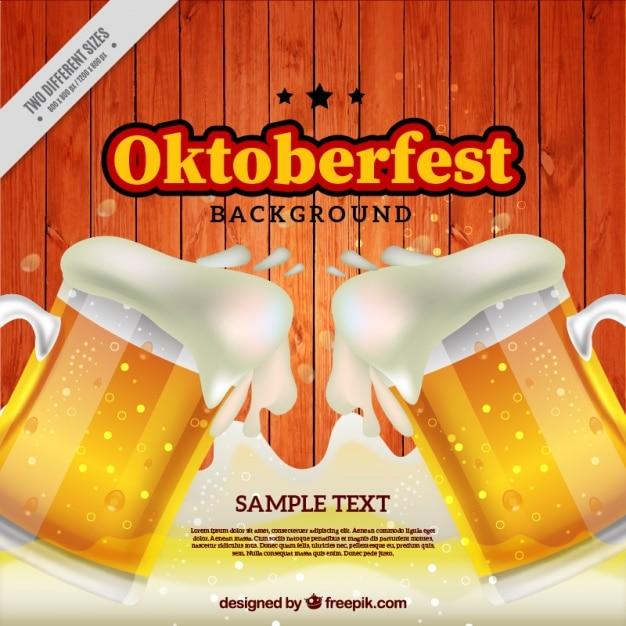 Fundo oktoberfest com espuma da cerveja Vetor grátis