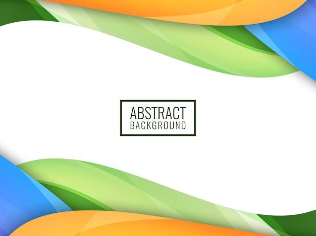 Fundo ondulado colorido brilhante abstrato Vetor grátis