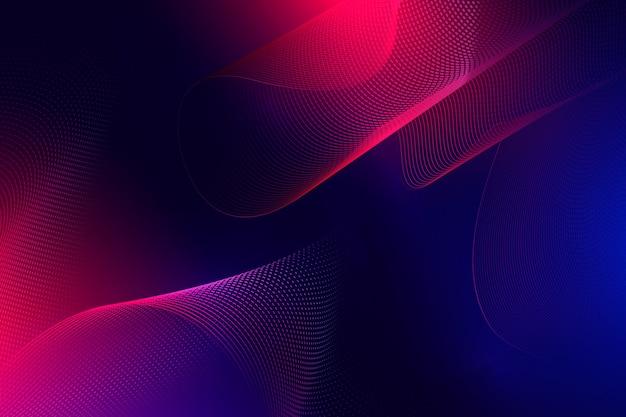 Fundo ondulado escuro em gradiente Vetor grátis