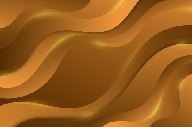 Fundo ondulado luxo de ouro Vetor grátis