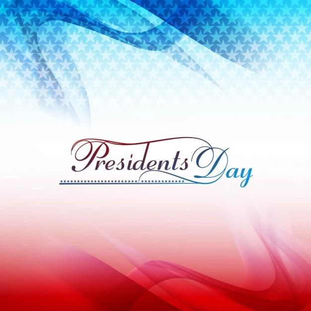 Fundo ondulado presidentes dia com estrelas Vetor grátis