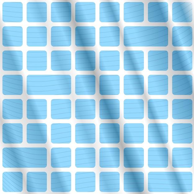 Fundo opart abstrato com retângulos e linhas azuis Vetor grátis