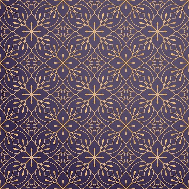 Fundo ornamental de luxo na cor ouro Vetor grátis