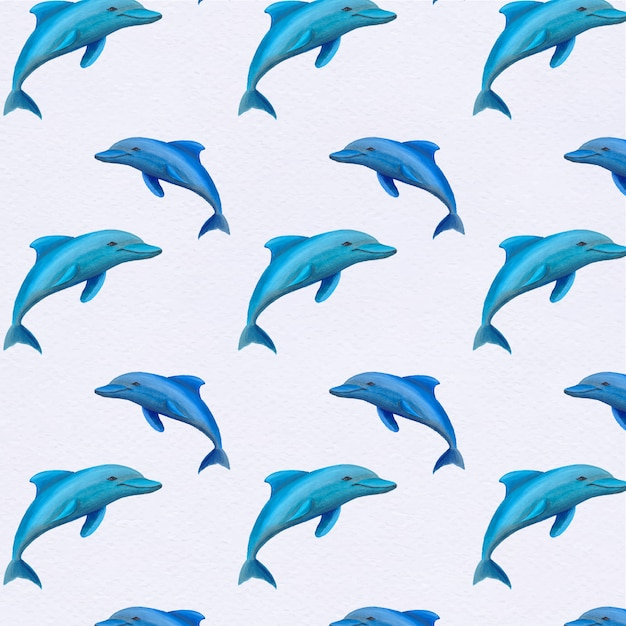 Fundo padrão do golfinho Vetor grátis