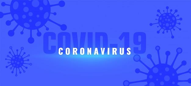 Fundo pandêmico de surto de coronavírus covid-19 com vírus Vetor grátis