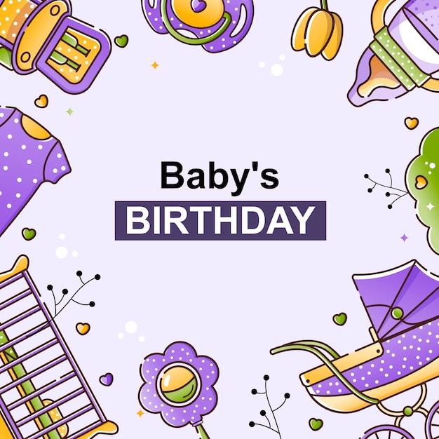 Fundo para convites infantis, cartões. Vetor Premium