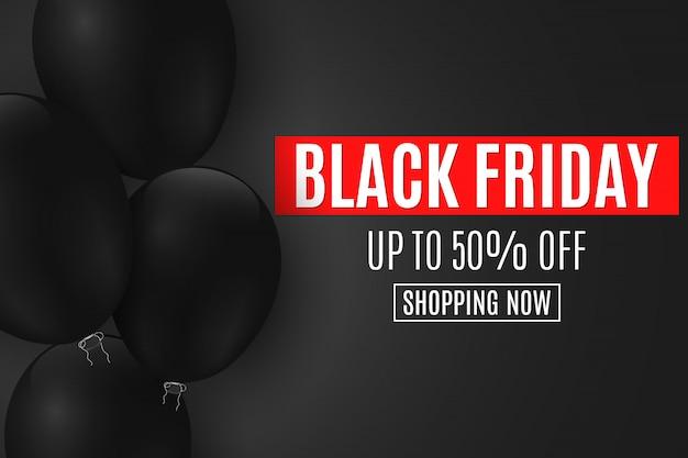 Fundo para venda de sexta-feira negra. Vetor Premium