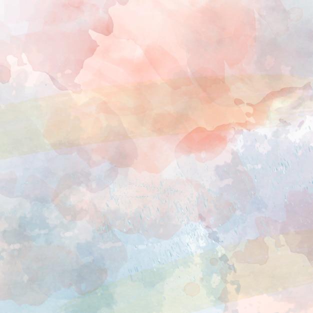 Fundo pastel aquarela Vetor Premium