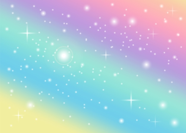 Fundo pastel de arco-íris Vetor Premium