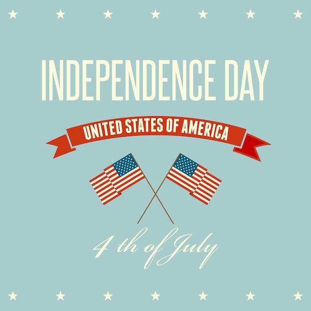 Fundo patriótico do dia da independência americana Vetor Premium