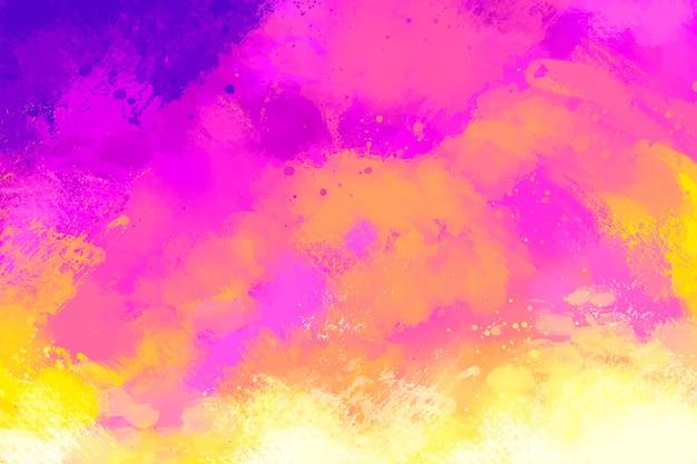 Fundo pintado à mão em gradiente rosa e laranja Vetor grátis