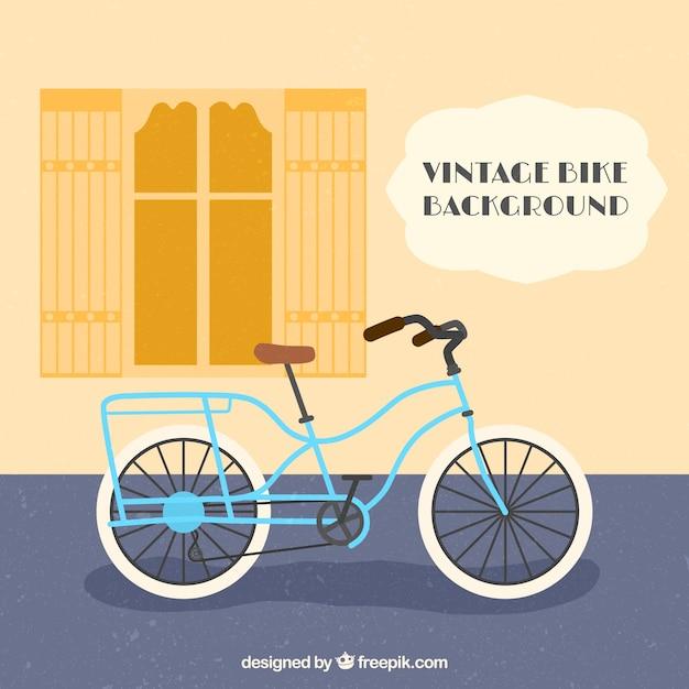 Fundo plano com bicicleta retro Vetor grátis
