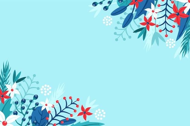 Fundo plano de inverno Vetor grátis