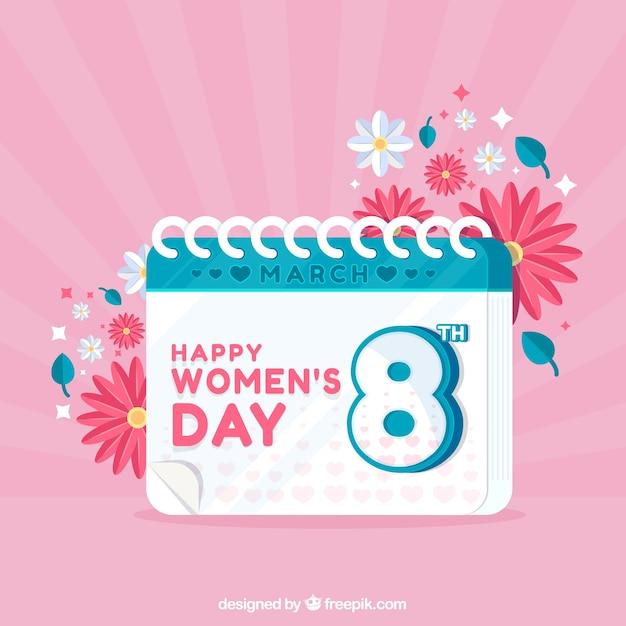 Fundo plano do dia das mulheres Vetor grátis