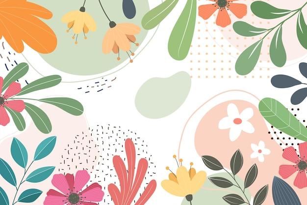 Fundo plano floral abstrato Vetor grátis