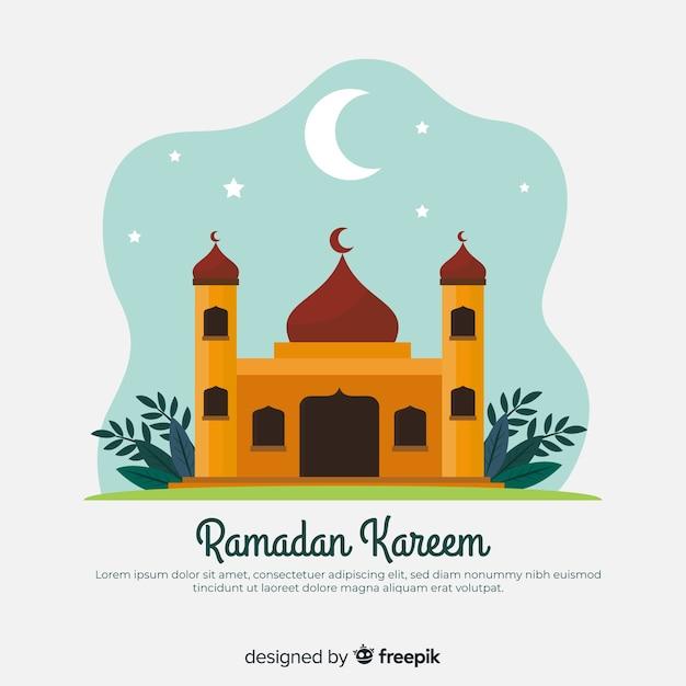Fundo plano ramadan Vetor grátis