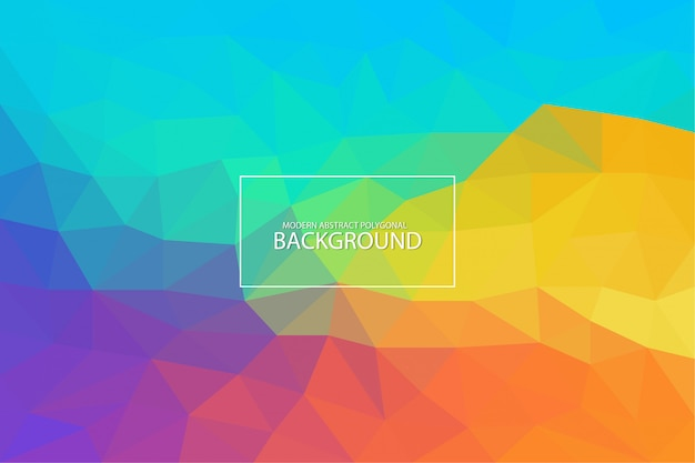 Fundo poligonal abstrato moderno Vetor Premium