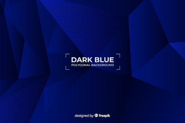 Fundo poligonal azul escuro Vetor grátis