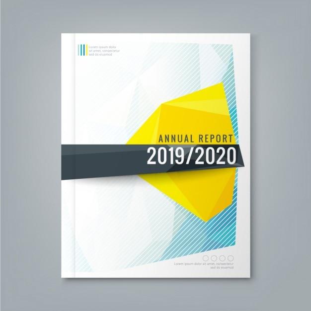fundo poligonal baixo Abstract forma para negócios corporativos relatório anual cartaz da capa do livro Folheto Vetor grátis