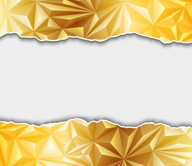 Fundo poligonal dourado abstrato Vetor Premium