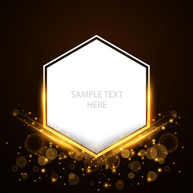 fundo poligonal em branco de luxo brilhante Vetor grátis