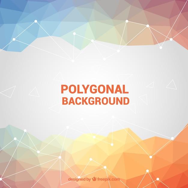 Fundo poligonal em cores suaves Vetor grátis